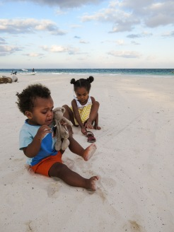Adrien a eu peur du sable