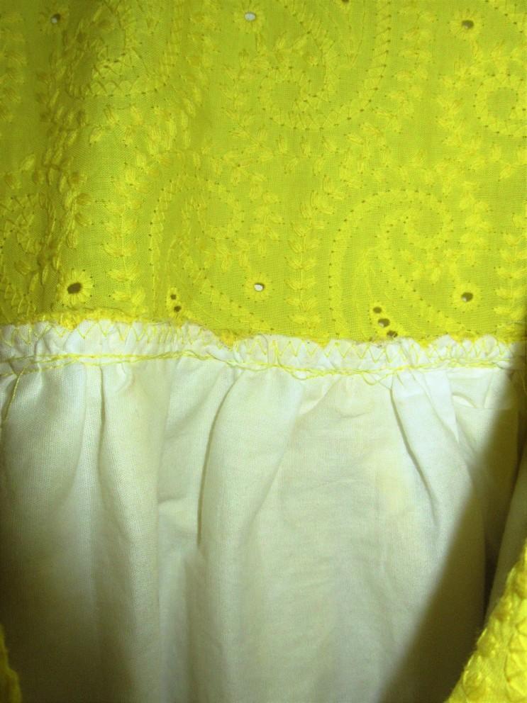jonction jupe+jupon au haut de la robe
