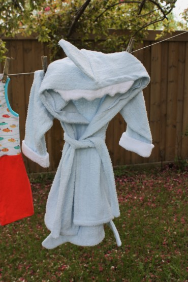baby shark bathrobe by poppy